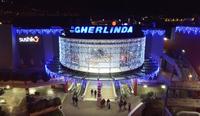installazione luminarie natalizie presso Centro Commerciale Gherlinda - Ellera (PG)
