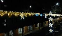 installazione luminarie natalizie presso Centro Giò - Perugia (PG)