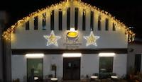 installazione luminarie natalizie presso Cioccolateria Perusia - Perugia