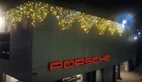 installazione luminarie natalizie Skoda Porsche